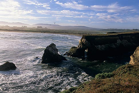 image 4-796-22 California, Point Arena, Rock arch at mouth of Garcia River