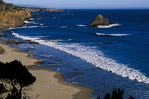 image 4-796-41 California, Mendocino County, Anchor Bay Beach