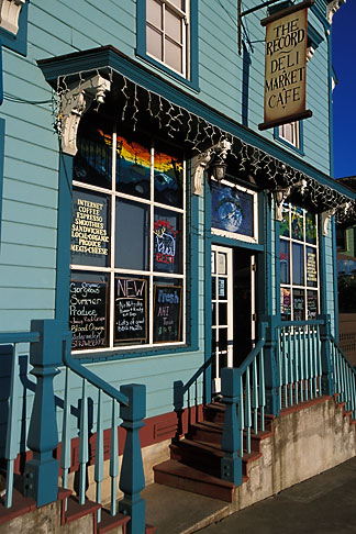 image 4-796-51 California, Point Arena, The Record, deli, market and cafe