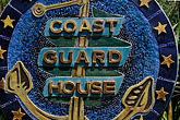 signage stock photography | California, Point Arena, Arena Cove, Coast Guard House, image id 4-796-75