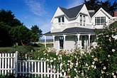 picket fence stock photography | California, Mendocino County, Manchester, Inn at Victorian Gardens, image id 4-796-94