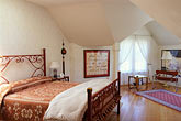 bed stock photography | California, Mendocino County, Manchester, Inn at Victorian Gardens, guest room, image id 4-797-27