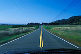 yellow stock photography | California, Driving in the center of the road, image id 4-798-21