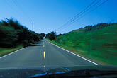street traffic stock photography | California, Driving in the center of the road, image id 4-798-22
