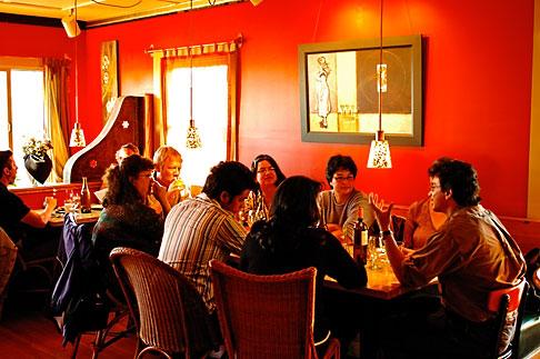image 4-800-10 California, Gualala, Pangeae Restaurant, interior
