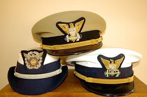 image 4-800-14 California, Point Arena, Coast Guard House, Naval caps