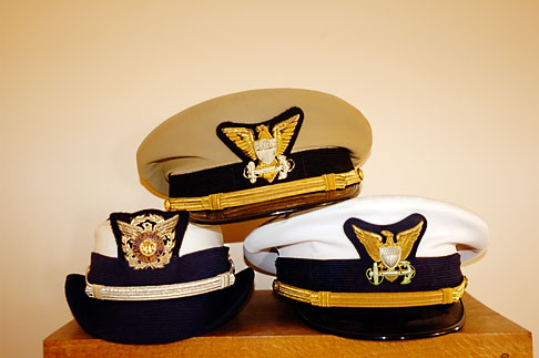 image 4-800-15 California, Point Arena, Coast Guard House, Naval caps