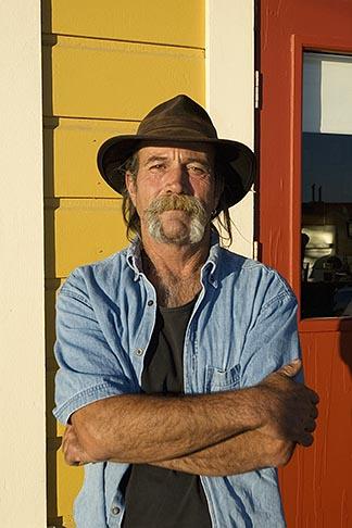 image 4-800-63 California, Gualala, Portrait, man with cowboy hat