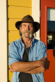 beard stock photography | California, Gualala, Portrait, man with cowboy hat, image id 4-800-63