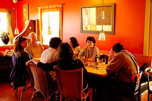 image 4-800-8 California, Gualala, Pangeae Restaurant, interior