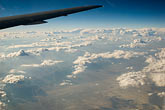 plane stock photography | California, Aerial of clouds and Sierra foothills, image id 4-850-5388