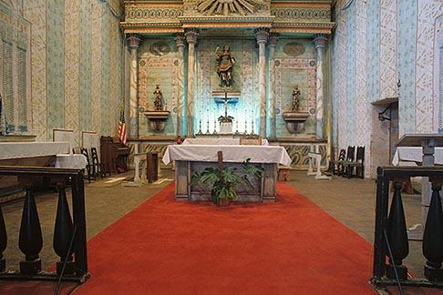 image 5-118-2 California, Missions, Interior, Mission San Miguel Arcangel