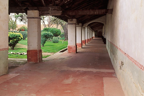 image 5-120-19 California, Missions, Colonnade, Mission San Miguel Arcangel