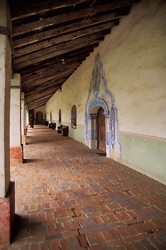 image 5-120-4 California, Missions, Colonnade, Mission San Miguel Arcangel