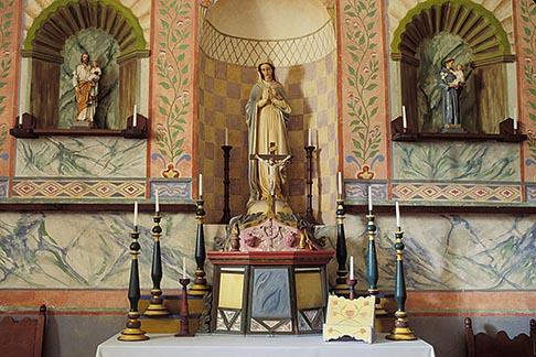 image 5-122-27 California, Missions, Altar, La Purisima Mission, 1787
