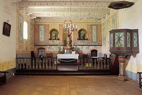 image 5-122-29 California, Missions, Interior of church, La Purisima Mission, 1787