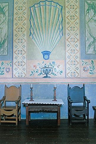 image 5-123-27 California, Missions, Devotional altar, La Purisima Mission, 1787