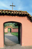 roman catholic stock photography | California, Missions, Gate to cemetery, La Purisima Mission, image id 5-124-28