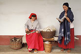 us stock photography | California, Missions, Spinning & carding wool, La Purisima Mission State Park, image id 5-133-29