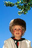 head covering stock photography | California, Fort Ross, Young boy, Living History Day, image id 5-326-32