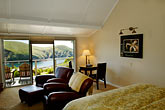 bed stock photography | California, Mendocino County, Albion River Inn, image id 5-630-143