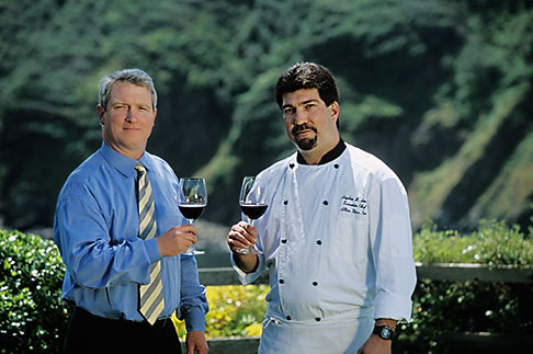 image 5-640-27 California, Mendocino County, Albion River Inn, Mark Bowery, Sommelier, and Stephen Smith, Executive Chef