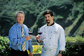 horizontal stock photography | California, Mendocino County, Albion River Inn, Mark Bowery, Sommelier, and Stephen Smith, Executive Chef, image id 5-640-27