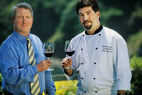 image 5-640-28 California, Mendocino County, Albion River Inn, Mark Bowery, Sommelier, and Stephen Smith, Executive Chef