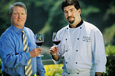 horizontal stock photography | California, Mendocino County, Albion River Inn, Mark Bowery, Sommelier, and Stephen Smith, Executive Chef, image id 5-640-28