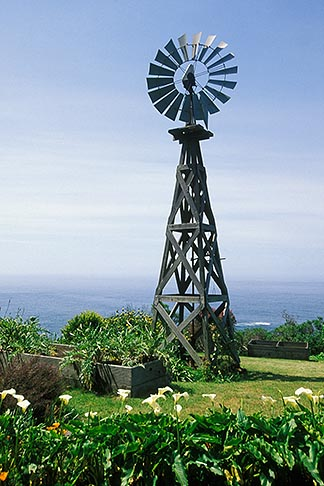image 5-642-75 California, Mendocino County, Windmill, Navarro Bluff Road