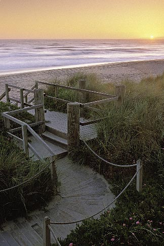 image 5-670-77 California, Santa Cruz County, Pajaro Dunes, Sunset and boardwalk