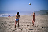 two girls stock photography | California, Santa Cruz County, Pajaro Dunes, Beach volleyball, image id 5-671-36