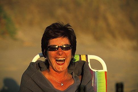 image 5-671-88 California, Santa Cruz County, Pajaro Dunes, Woman relaxing