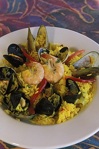 image 5-672-62 California, Moss Landing, Seafood paella