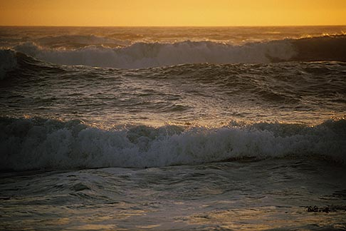image 5-672-99 California, Moss Landing, Pacific Ocean at sunset