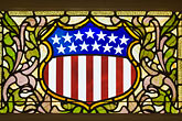 horizontal stock photography | Americana, United States crest with stars and stripes, image id 5-780-565