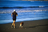 workout stock photography | California, Stinson Beach, Running on the beach, image id 5-791-44