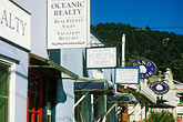 street sign stock photography | California, Stinson Beach, Shops, Highway One, image id 5-793-23