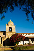 architecture stock photography | California, Carmel, Carmel Mission Church, tower, image id 5-810-1496