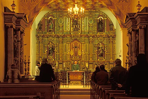 image 5-89-27 California, San Francisco, Morning eucharist, Mission Dolores