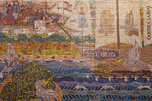 image 5-90-18 California, San Francisco, Mosaic of founding of San Francisco, Mission Dolores