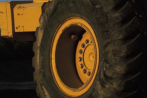 image 6-192-14 California, Payloader wheel