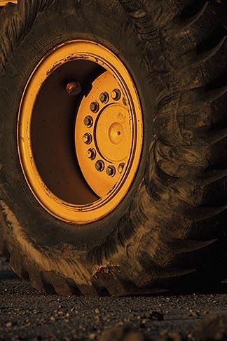 image 6-192-4 California, Payloader wheel