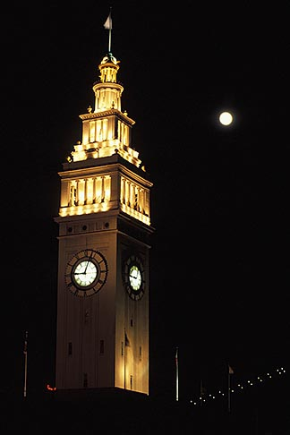 image 6-270-15 California, San Francisco, Ferry Building at night