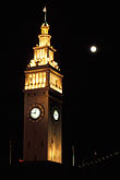 building stock photography | California, San Francisco, Ferry Building at night, image id 6-270-15