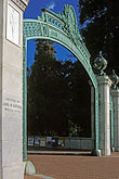 entrance gate stock photography | California, Berkeley, University of California, Sather Gate, image id 6-354-3