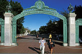 entrance gate stock photography | California, Berkeley, University of California, Sather Gate, image id 6-355-25