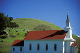 church stock photography | California, Marin County, Nicasio, Saint Mary