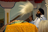 horizontal stock photography | Religious, Sikh Granthi at Wedding Ceremony, image id 6-455-7201