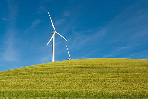 image 6-462-6840 California, Solano County, Wind Turbines on hillside
